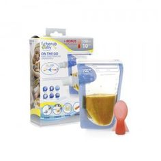 Reusable food pouches designed for storing homemade #babyfood