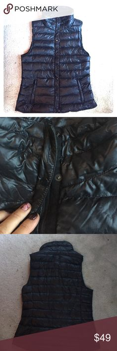 Gap black down vest Super cute down vest by gap. Zip up and buttons for extra warmth. Size small.  Great condition. Super cute. No trades. Make offers. GAP Jackets & Coats Vests