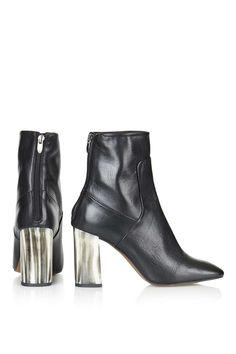 MUSE Bone Heel Boots - Topshop