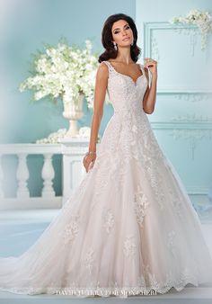 David Tutera for Mon Cheri 216248 Violet A-Line Wedding Dress