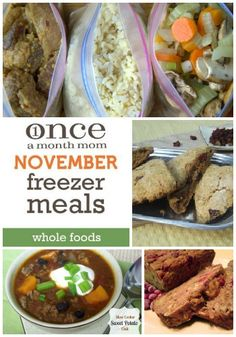 OaMM Whole Foods November2012: •Slow Cooker Sweet Potato Chili •Chicken Stew with Butternut Squash and Quinoa •Chicken Alfredo Casserole with Buttermilk Biscuits Parmesan Buttermilk Drop Biscuits •Crockpot Cranberry Pork Roast •Easy Stuffed Chicken Breast  •Red Lentil Soup with Lemon