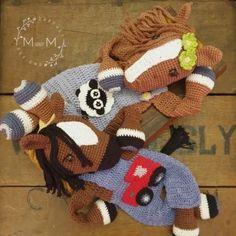 Melly Teddy Ragdoll Bonnie & Clyde Horse   MandMCrochetDesigns Crochet Horse, Crochet Baby, Tom Turkey, Bonnie Clyde, Horse Pattern, Lovey Blanket, Single Crochet Stitch, Yarn Over, Crochet Basics
