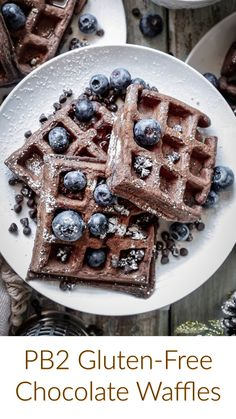The pleasant taste will delightfully surprise you completely. You wouldn't believe how amazingly delicious these waffles are, so please, you must attempt them as soon as possible How To Make Waffles, Gluten Free Waffles, Organic Peanut Butter, Chocolate Waffles, Protein Packed Breakfast, Waffle Recipes, Gluten Free Chocolate, Easy Cooking, Tasty Dishes