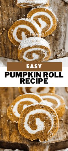 You will absolutely love how easy it is to make this classic pumpkin roll cake recipe that is stuffed up with a sweet cream cheese filling. Learn how to keep it from cracking and make sure it stays moist! #pumpkin #desser Desserts For A Crowd, Fun Desserts, Delicious Desserts, Tea Cakes, Cupcake Cakes, Cupcakes, Sweets Recipes, Cake Recipes, Icing Recipes
