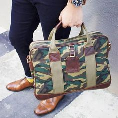 Turn heads with the aspen briefcase by @gnomenbow.#theassemblystore #bags #briefcase #style #fashion #camo
