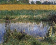 Lubin in the sun - Wladyslaw Podkowinski… Champs, French Impressionist Painters, Sunlight, Paintings, Image, Beautiful, Summer, Illustrations, Drawing