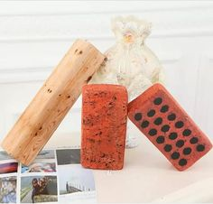 25cm Creative Simulation Brick Plush Toys Children's Game Tools Nap Pillow Birthday Gift