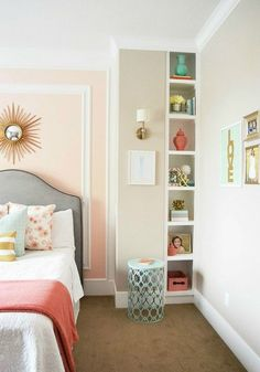 Glam up your bedroom with faux crown molding.