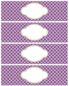 Water Labels Template Free - Water Labels Template Free , 10 Best Of Water Bottle Label Template Baby Water Printable Water Bottle Labels, Printable Labels, Labels Free, Free Printables, Soap Labels, Soap Packaging, Quatrefoil Pattern, Round Labels, Label Templates