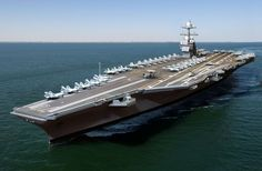 USS Gerald R. Ford (CVN is the most technologically-advanced warship ever built.The USS Gerald R. Ford (CVN is the most technologically-advanced warship ever built. Uss Ford, Uss Gerald R Ford, Poder Naval, Naval Station Norfolk, Navy Aircraft Carrier, Gerald Ford Aircraft Carrier, New Aircraft, Us Navy Ships, Aircraft Design