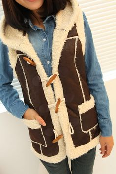 retro polyester micro suede bounding with lamb fur and even vests ladies strap Cap Hat vest waistcoat jacket