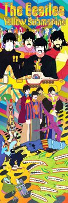 The Beatles YELLOW SUBMARINE Giant Door-Sized Poster  ~ Available at www.sportsposterwarehouse.com