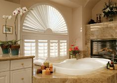 Half circle plus shutters -Window Coverings - Draperies & Window Covering Ideas