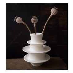 SALE- White Ceramic Vertebra Vase by Sara Paloma. modern home decor white pottery ceramics modern on Etsy, $80.00
