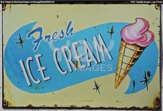 Old Icecream Sign.