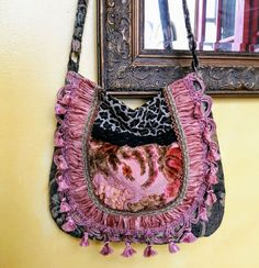Boho gypsy bag in pinks