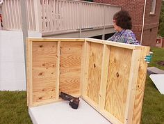 How to construct a modern slanted roof for your diy dog for Cost to build a dog house