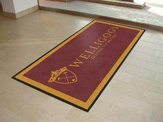 Stunning logo mats supplied to British Retailers  Welligogs.  Heavy duty non slip mats designed for medium to high traffic.