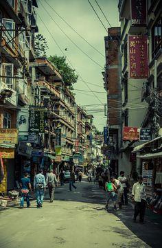 The streets of Kathmandu.