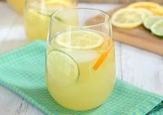 "Sangria Blanc - a light citrusy sangria for summer. Recipe courtesy of ""A Taste of Glynn"" cookbook.  www.elegantislandliving.net"