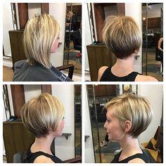Thin Hair Cuts thin hair cuts before and after Cute Hairstyles For Short Hair, Trending Hairstyles, Curly Hair Styles, Hairstyles 2018, Elegant Hairstyles, Thin Hair Cuts, Corte Y Color, Pixie Haircut, Pixies