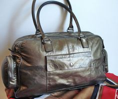 f6b6f7add0 Vintage Desmo Italy Camel tan Leather Silver Charm Pendant Satchel Bag Purse  Listing in the Shoulder Bags
