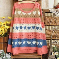 Mogsh Pink Printed Sweater