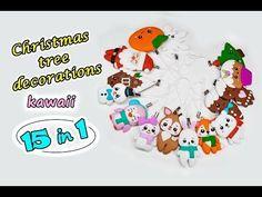 Christmas tree decorations ❄️15 DIY (Kawaii) ❄️  Polymer clay Tutorial (fimo) ✿ Irina Ivanitskaya - YouTube