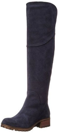 Lucky Women's Harleen Over The Knee Riding Boots Moroccan Blue Suede #LuckyBrand #KneeHighBoots