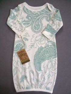 Organic Baby Clothing Paisley Pajama Sack by BAOBABorganics, $36.00