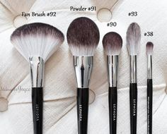 Sephora Collection Pro Featherweight Line - Fan Brush #92 ($36), Powder Brush #91 ($40), Complexion Brush #90 ($34), Blending Brush #93 ($30) and Crease Brush #38 ($22)