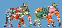 TWINS FOR PEACE - #Flowers #Gold #Elephants