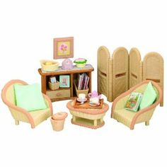 Details about NEW SYLVANIAN FAMILIES LIVING ROOM FURNITURE SET w