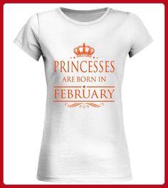Princesses Are Born In February TShirts - Shirts für freundin mit herz (*Partner-Link)
