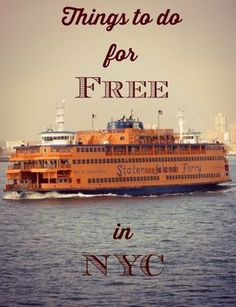 Three things to do for free in New York City (article)