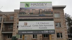 Great informative property management signage completed by Speedpro Signs Barrie for Hassey!
