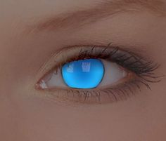 UV Electric Blue Contact Lenses. My gosh, I love eye contacts.