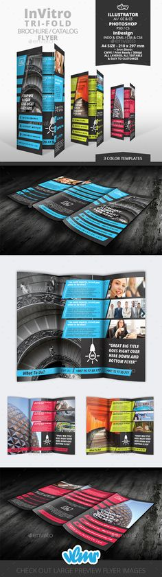 New trifold brochure / flyer / catalog template available at vlmr portfolio. Check it out! #action #brochure #business #buy #catalog #catalogue #closeout #dicount #hit #letter #multipurpouse #offer #order #price #pricebook #prices #product #productbrochure #productcatalog #products #promo #sale #salesroom #sell #selling #shop #shopping #store #template #flyer #indesign #illustrator #photoshop #promotion #liflet #bifold #a4 #print #vlmr #design #blue #green #pink #service #services #invitro
