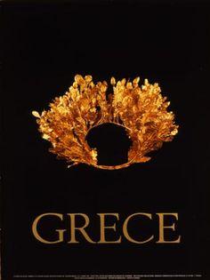 GRECE 1980~1989. (ΧΡΥΣΟ ΣΤΕΦΑΝΙ ΒΕΡΓΙΝΑΣ). Ancient Names, Ancient Greek Art, Ancient Greece, Ideal Beauty, Poster Ads, Santorini Greece, Western Art, Greece Travel, Greece