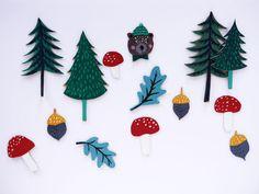 Woodland Craft Ornaments by LA MAISON DE LOULOU
