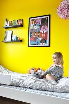 bright yellow wall #decor #colors
