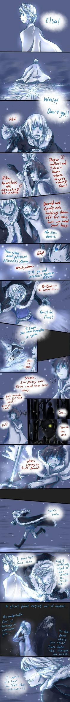 Frozen/KH: To Protect by Medli45.deviantart.com on @deviantART << Awesome comic. I seriously hope to see this in Kingdom Hearts III.