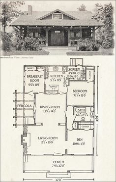 CaliforniaBungalowHousePlans Bungalow House Plan California