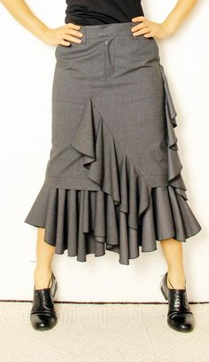 """Articoli simili a PDF sewing pattern skirt """"SASHA """" su Etsy Skirt Patterns Sewing, Pattern Skirt, Pattern Sewing, Free Pattern, Skirt Outfits, Cool Outfits, Couture, Diy Mode, Skirts With Pockets"""