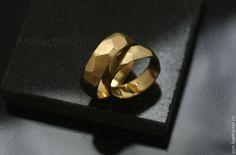 """Купить Обручальные кольца """"Грани"""" (№197, 198) - золотой, грани, обручальные кольца, обручальное кольцо"""