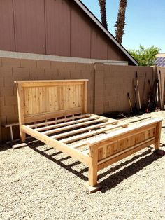 $80 DIY king size platform bed frame