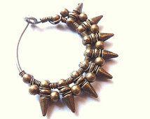 Handmade Hoop Earrings Spike Earrings Titanium Piercings Wire woven spike ear jewelry Helix piercings Industrial piercing Mayahandmade
