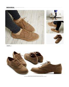 de325cbad4b ollio Womens Shoes Ballet Flats Faux-Suede Wingtip Lace Ups Oxford