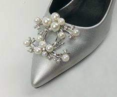 99fd9327b 2 Pcs Faux Pearl Rhinestone Wedding Bridal Elegant Shoe Clips Decoration   Unbranded  Modern Shoes