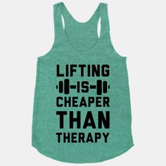 Lifting isn't completely free initially, but it's nothing compared to therapy sessions.